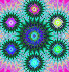 Multicolored fractal mandala background vector