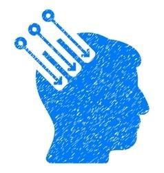 Neuro interface grainy texture icon vector
