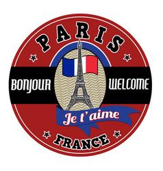 Paris emblem label or stamp vector