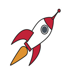 Rocket startup launch innovation strategy vector