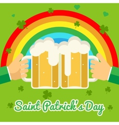 Saint Patricks Day Celebration Success and vector image