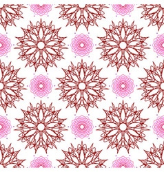Seamless of stars like flowers and weaving flowers vector