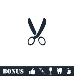 Secateurs icon flat vector