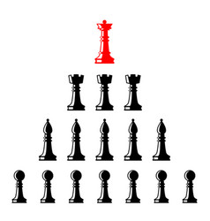 Set of chess figures leadership concept vector