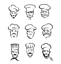 Set of different restaurant chefs vector image vector image