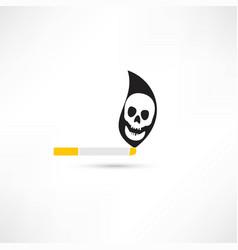 smoking kills vector image