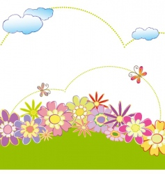 spring summer greeting card vector image