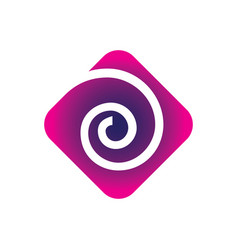 Square swirl business logo vector