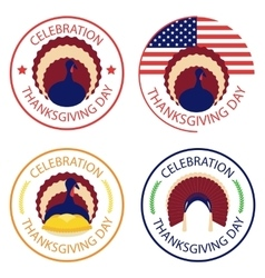 Thanksgiving icon set vector image