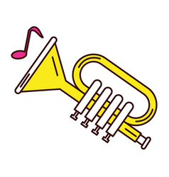 Trumpet musical instrument icon vector