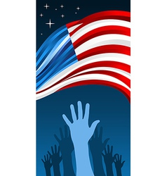 USA elections waving flag vector image vector image