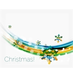 Wave with snow background vector image
