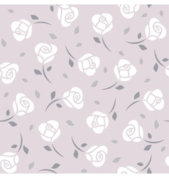 White roses seamless pattern vector image vector image