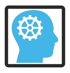 Intellect framed icon vector