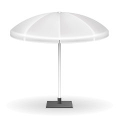 White outdoor tent umbrella or parasol stand vector