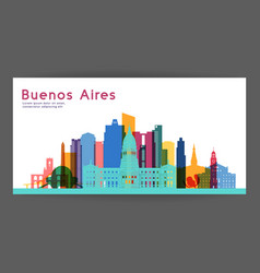 Buenos aires colorful architecture vector