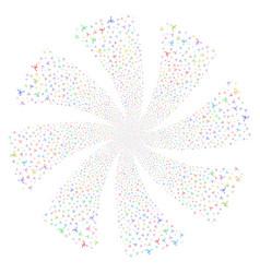 Big bang fireworks swirl rotation vector