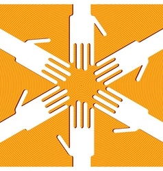 Ring of hands vector image