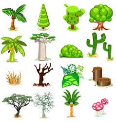 Tree collection pack vector