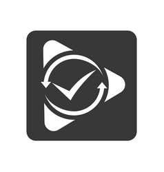 Quality control icon with check mark vector
