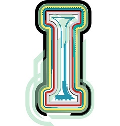 Abstract colorful letter i vector