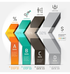 3d business arrow staircase diagram template vector image vector image