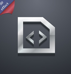 Programming code icon symbol 3d style trendy vector