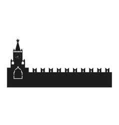 Kremlin silhouette vector