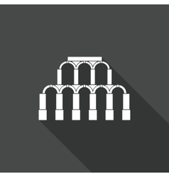 Ancient roman architecture icon vector