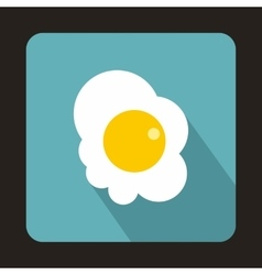 Fried egg icon in flat style vector