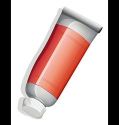 A topview of a red tube vector image vector image