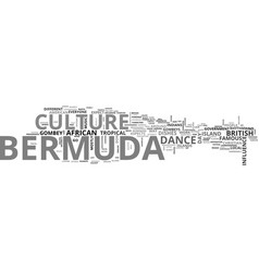 Bermuda culture text word cloud concept vector