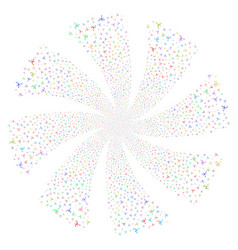 Big bang fireworks swirl rotation vector