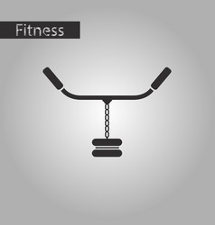 black and white style icon sports simulator vector image