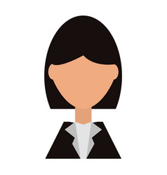Business woman profile cartoon vector