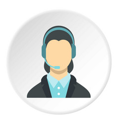 Call center operator icon circle vector