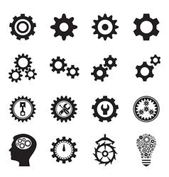 Cogwheel icons vector image vector image