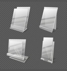 display tables transparent plastic sheets vector image vector image