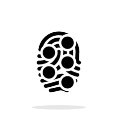 Fingerprint loop type scan icon on white vector