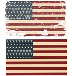 Flag of the USA in retro style vector image vector image