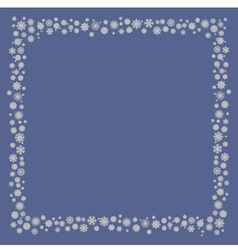 Frame snowflakes vector