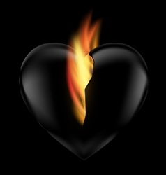 Heart and flame vector