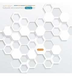 Hexagonal abstract 3d background vector image vector image