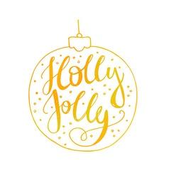 Holly Jolly vector image vector image