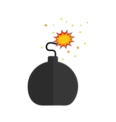 Isolated ball bomb vector