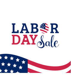 Labor day sale hand lettering background vector