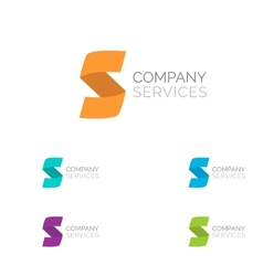 Letter S logo design template elements in vector image vector image