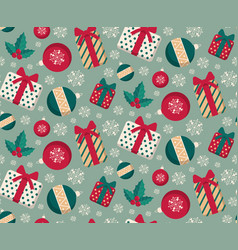 present boxes and toys seamless pattern vector image