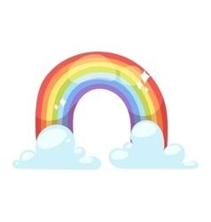 Rainbow icon isolated vector image