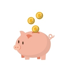 Save money piggy coins bank vector